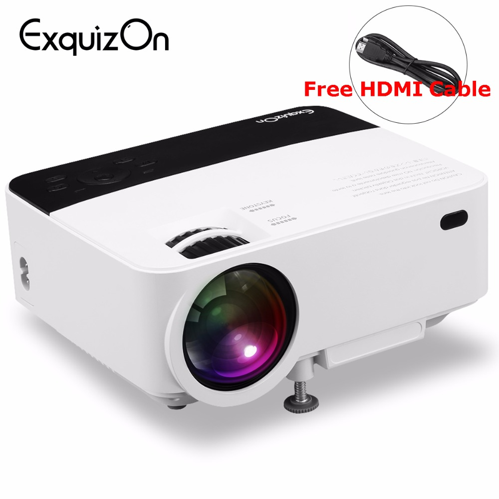 Buy exquizon t5 mini projector 1500 for Highest lumen pocket projector