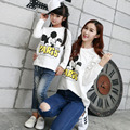 1 Piece Famiy Mother Daughter T-shirts Autumn Micky Cartoon T shirts Long Sleeve Matching Mother Daughter Mommy And Me Clothes
