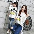 1 Unidades Famiy Madre Hija Camisetas Otoño Micky de Dibujos Animados camisetas de Manga Larga A Juego Madre Hija Mamá Y Yo Ropa
