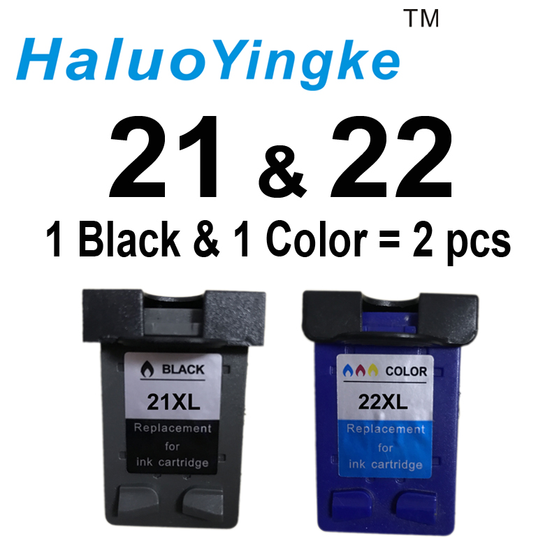 2Pcs XL Ink Cartridge replacement for hp 21 22 cartridges 21 and 22 for Deskjet 3915 3920 D1320 D1455 F2100 F2280 F4180 printer befon 21 22 xl compatible ink cartridge replacement for hp 21 22 21xl 22xl deskjet f2180 f2280 f4180 f2200 f380 300 380 printer