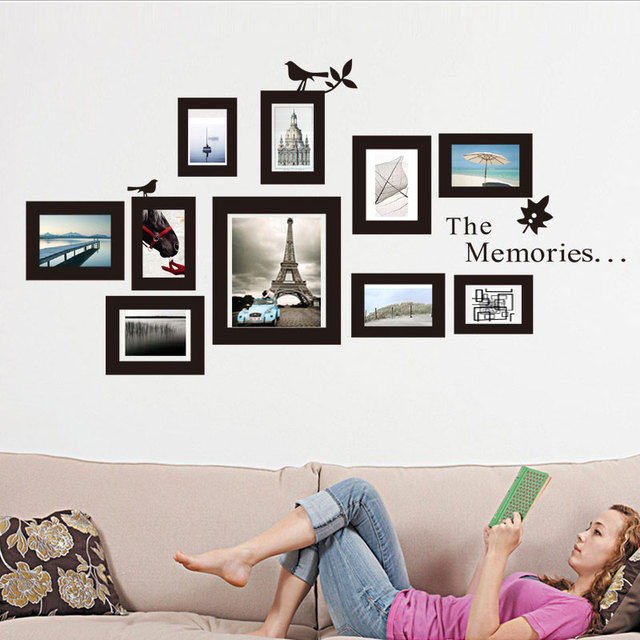 Brand 2017 Family Memories Wall Sticker Sofa Background