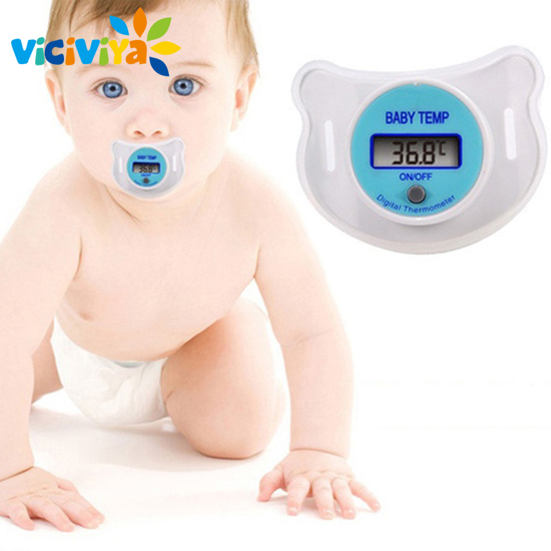 VICIVIYA Health Monitors Baby Nipple Thermometer Termometro Testa Baby Pacifier  LCD Digital Mouth Nipple Pacifier Chupeta ~