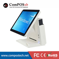 High quality ComPos touch 15 inch Touch Screen POS System All In One PC With Display Restaurant Cash Register