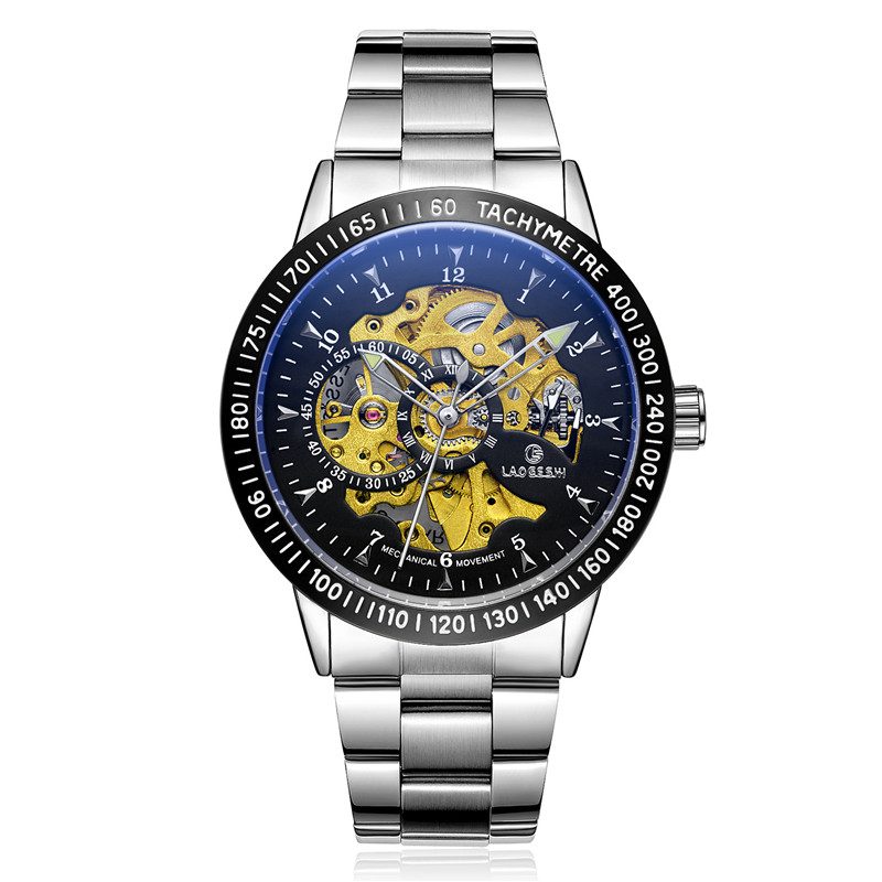 Luxury brand steel men male military clock self wind fashion luxury quality automatic Skeleton mechanical Watch gift relogio shenhua brand black dial skeleton mechanical watch stainless steel strap male fashion clock automatic self wind wrist watches
