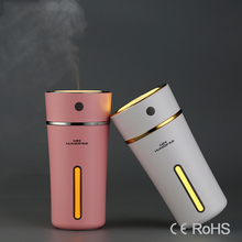 GRTCO 2017 Newest Portable 300ML Cup Outdoor Battery Car Air Humidifier Night Light Mist Maker Mini