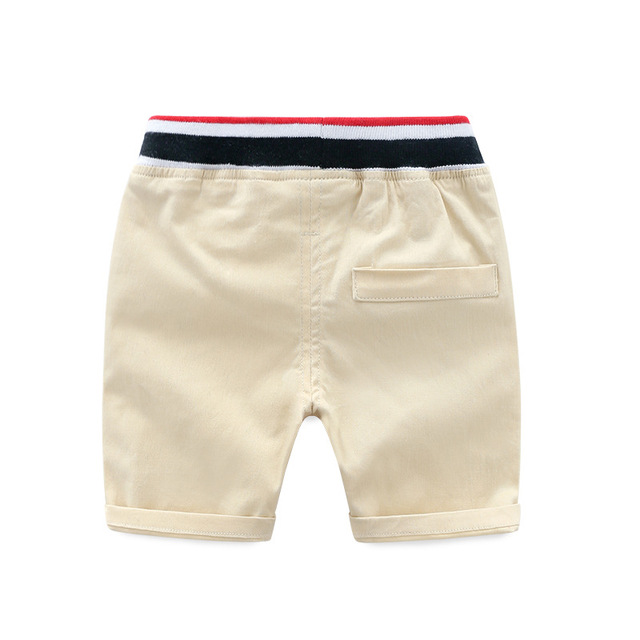 Boys' Cotton Shorts with Elastic Waist
