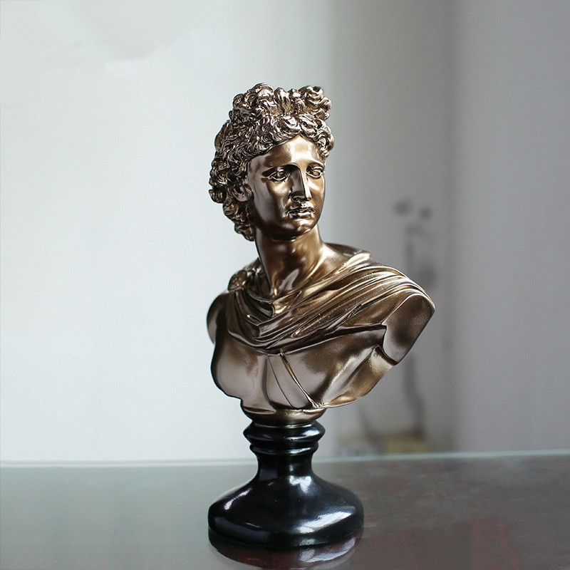 David Bust Statue Michelangelo Buonarroti Resin Craftwork Office Hotel Clubhouse Living Room Decoration Gift L2175David Bust Statue Michelangelo Buonarroti Resin Craftwork Office Hotel Clubhouse Living Room Decoration Gift L2175