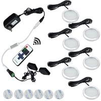 Sous Cabinet LED Lumières 6 Lampes Ensemble avec Sans Fil RF Télécommande pour Cuisine Placard Étagère Comptoir Accent Décoration Éclairage