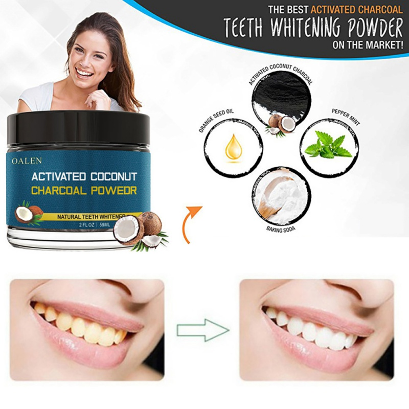 Coconut Shells Carbon Teeth Whitening Organic Natural Bamboo Charcoal Toothpaste Teeth Whitening Powder 5