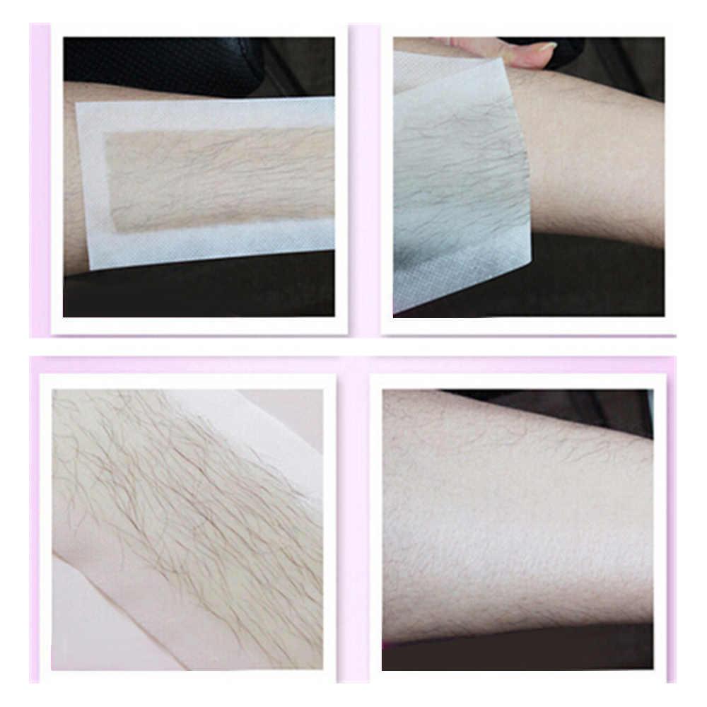 10 adet Çift Taraflı Soğuk balmumu şerit Kağıtları Epilasyon Tüy Dökücü Balmumu Kağıt Epilatör Kağıt Seti Yüz Bacak Vücut Yüz saç Aracı