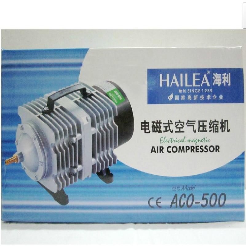 420L/мин Hailea ACO 500 электрические магнитные воздушный компрессор насос с 26 способ воздуха сплиттер аквариума Гидропоника аэратор