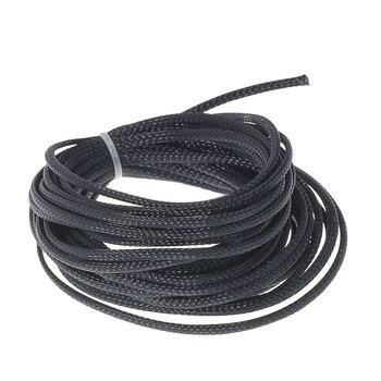 Rozbudowy PET pleciony kabel rękaw ochronny elastyczny rękaw pokrowiec drut Audio rękaw do węża rurowego 10M * 4mm Mayitr