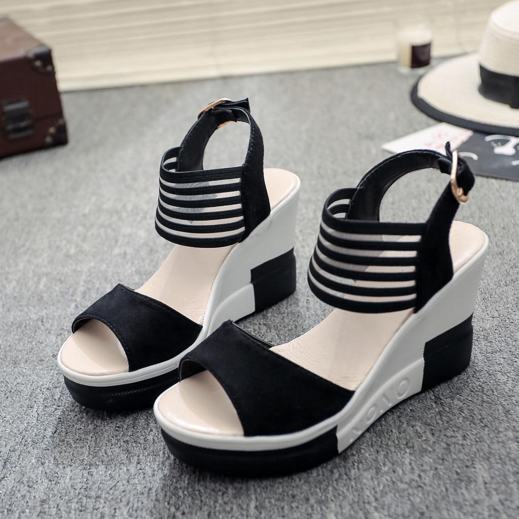 HTB1KERlasfrK1Rjy1Xdq6yemFXay new fashion Wedge women Shoes Casual Belt Buckle High Heel Shoes Fish Mouth Sandals 2019 luxury sandal women buty damskie