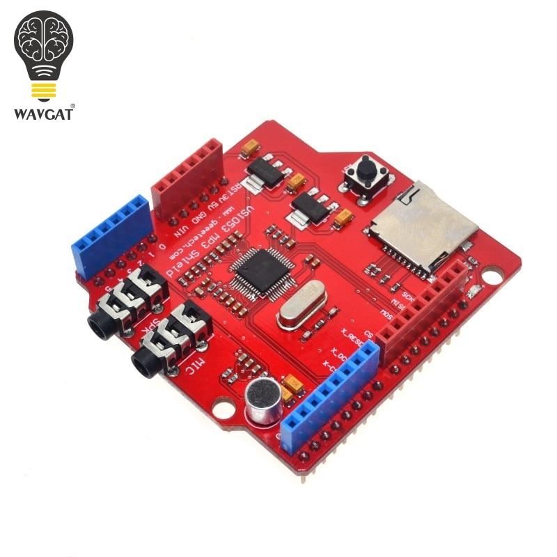 WAVGAT VS1053 VS1053B Stereo Audio MP3 Player Shield Record Decode Development Board Module With TF Card Slot For Arduino UNO R3WAVGAT VS1053 VS1053B Stereo Audio MP3 Player Shield Record Decode Development Board Module With TF Card Slot For Arduino UNO R3