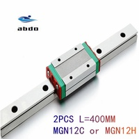 MGN7 CNC 7mm miniature linear rail guide  MGN7C L100   600 mm MGN7C linear block carriage or MGN7H narrow carriage|Linear Guides| |  -