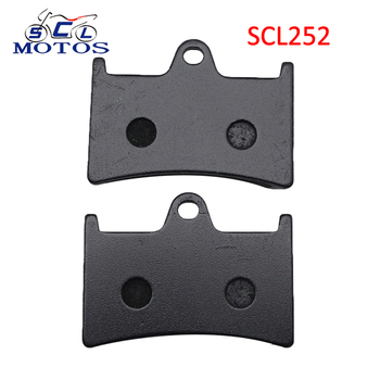 Sclmotos -1 Pair Semi-metal Motorcycle Parts Front Brake Pads for Yamaha MT-07 MT-09 YZF R1 R6 R7 FZ6 Fazer XP530 TDM900 FJR1300 image
