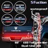 60 Double Row LED Truck Tailgate Light Bar Strip Red White Reverse Stop Turn Signal Running