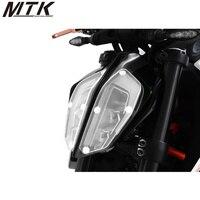 Motorcycle Acrylic Front Headlight Cover Screen Shot for KTM 390 DUKE 2017 2018 ktm duke 390