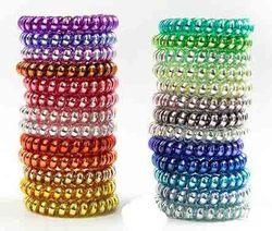 Cordon de fil de téléphone gomme pour filles | 25 pièces, 25 couleurs 6.5cm de haute qualité, bande de cheveux élastique pour filles, corde d'anneau, Bracelet en métal extensible Sc