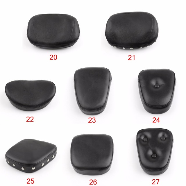 Areyourshop Motorcycle Universal Sissy Bar Backrest Black Cushion Pad for Harley Choppers for Honda for Kawasaki Motor Covers