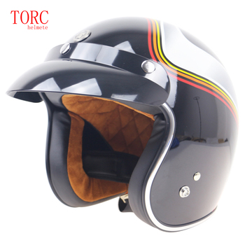 Cafe Racer helmet DOT standard Motorbike helmet TORC brand T50 series for man and woman