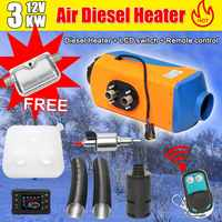 Audew 12 В/24 В 3 кВт/5 кВт дизельный автомобильный обогреватель с воздушным нагревом 10 л дизельный Воздушный стояночный обогреватель ЖК экран пе