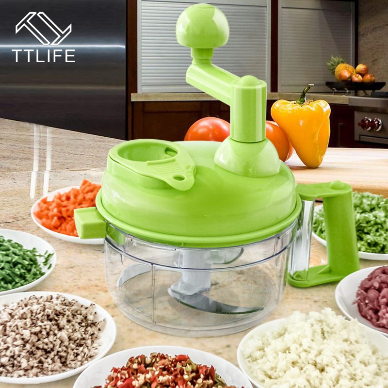Kitchen Tools Multifunction Food Chopper Garlic Cutter Vegetable Slicer  Speedy Chopper Tools Manual Meat Grinder Drop