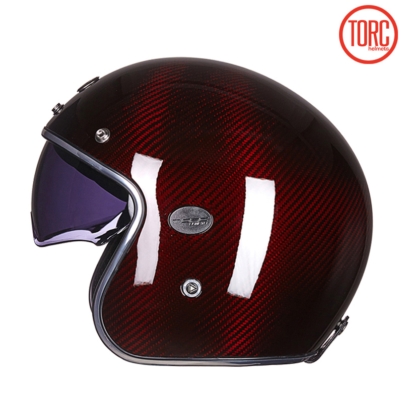TORC koolstofvezel motorhelm vintage open helm vespa motorbike - Motoraccessoires en onderdelen - Foto 3