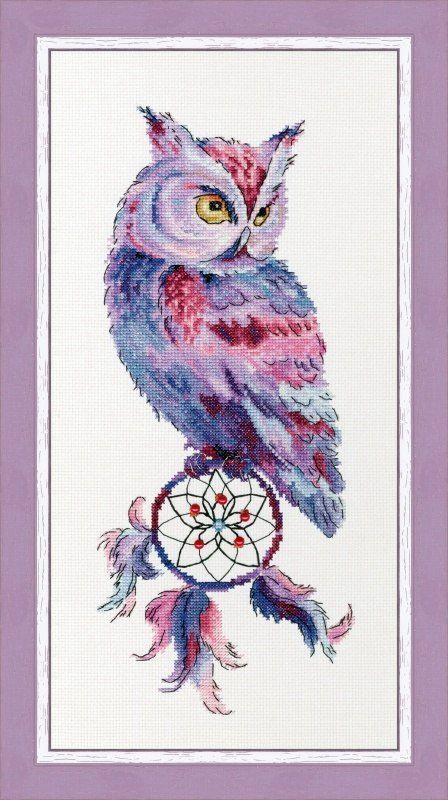 Dream Catcher And Owl Cross Stitch Package Animal 18ct 14ct 11ct Cloth Cotton Thread Embroidery DIY Handmade Needlework