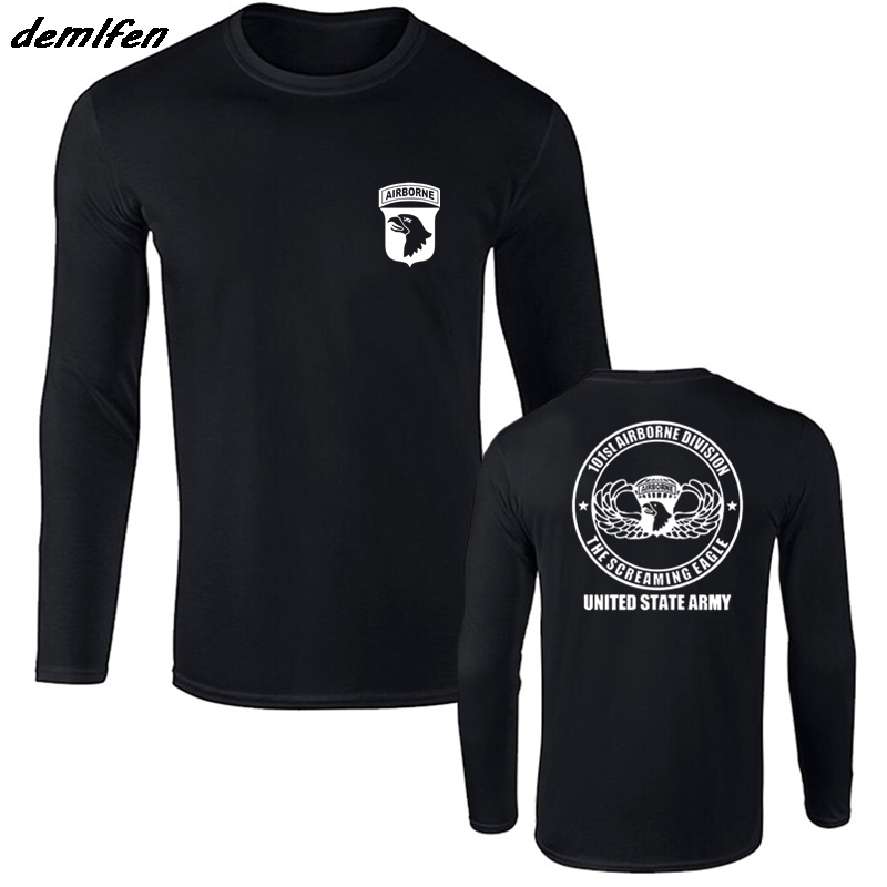 New Spring autumn Style Fashion T shirt 101st Airborne Veteran Special  Force Military Army 2side T Shirt Hip Hop Tees Tops-in T-Shirts from Men s  Clothing ... 1b7a5df0f