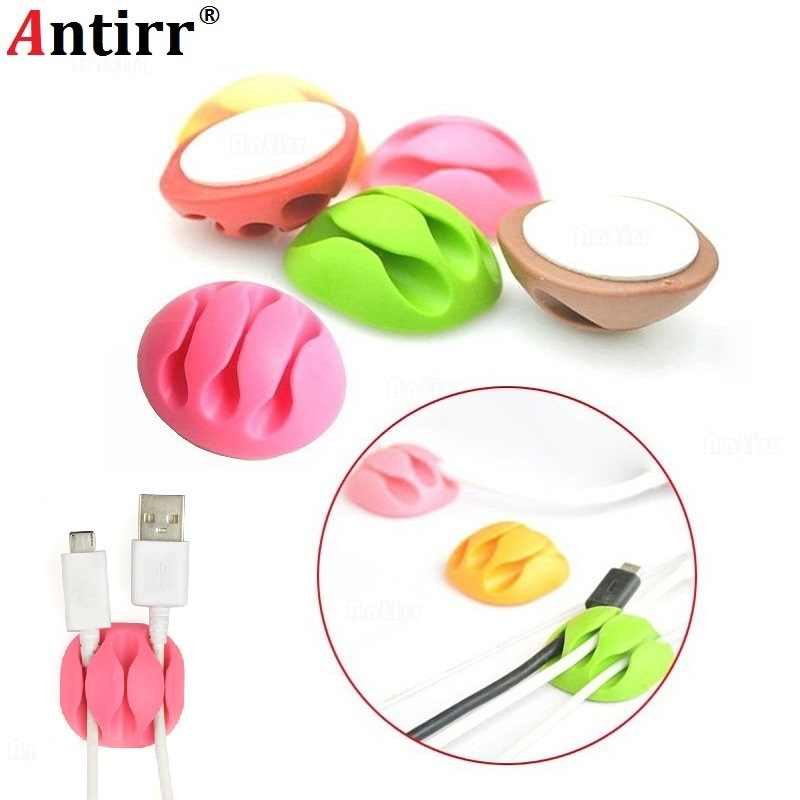 Clip Cable Bobbin Winder clamp protector Earphone Ties Organizer Wire Cord Fixer Holder Data line Tidy Collation Management