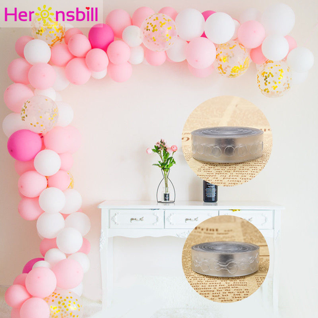 Heronsbill Plastic Balloons Chain Wedding Birthday Party Decorations Kids Adult Backdrop Balloon Clip Arch Balloon Accessories