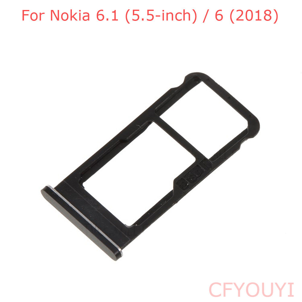 For Nokia 6.1 (5.5-inch) / 6 2018 Dual SIM Card Tray Holder Slot Replace Part For Nokia 6.1 Plus X6 2018