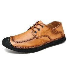 Men's shoes Comfortable Casual Shoes Loafers Quality Handmade Leather Shoes Men Flats Moccasins Big size 38-46