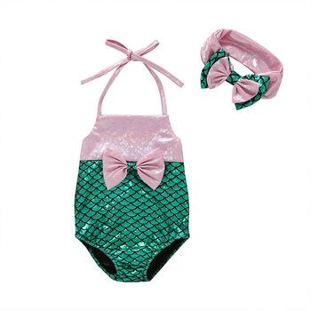 2019 lato nowa dziewczynka piękny strój kąpielowy 2 sztuk matka dzieci dziewczyny ubrania matka odzież do pływania tanie i dobre opinie baby Zestawy Moda Poliester Płótno Dziecko dziewczyny Bez rękawów GEOMETRIC O-neck Swetry REGULAR Polyester fiber 6459