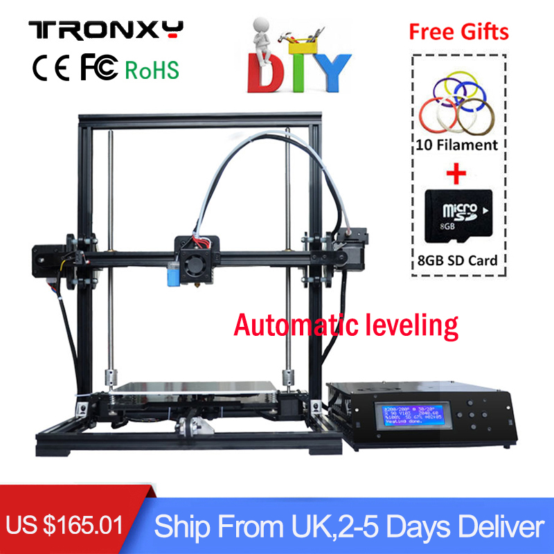 [Genuine] TRONXY Auto leveling 3D Printer DIY 3D Printing Size 220*220*300mm Quality High Precision Reprap Aluminium Structure tronxy education 3d printer diy kit high precision stable aluminium profile 220 220 300 tronxy diy 3d printer with auto leveling