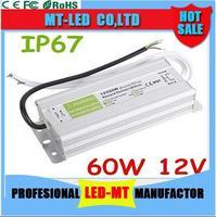 High Power 12V 5A Waterproof Electronic LED Driver Power Supply Transformer 90V 250V To 12V 60W