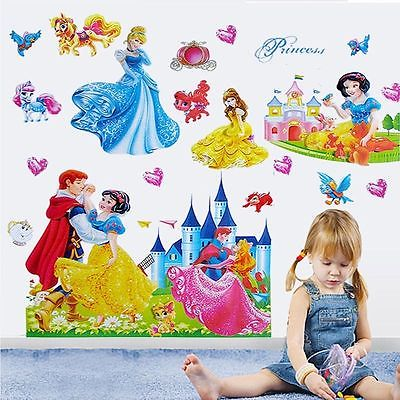 Princess Home Decor Art Wall Stickers For Kids Rooms Child Love Diy Family  Decoration Vinyl Poster