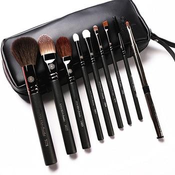 Кисти для макияжа из козьей шерсти с перламутровой ручкой, 9 шт./компл., алиэкспресс на русском языке