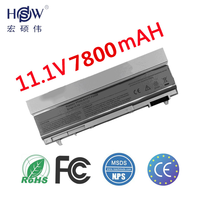 HSW New 9 CELLS Laptop Battery For Dell Latitude E6400 <font><b>E6410</b></font> E6500 E6510 ,PT434 PT435 PT436 PT437,R822G U844G W0X4F image
