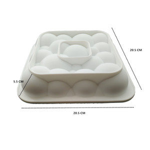 Image 4 - 3 قطعة كتلة الشبكة الغيوم تموج ثلاثية الأبعاد موس قوالب كعك للآيس كريم الشوكولاته قالب الكعكة عموم خبز الأشكال الهندسية