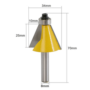 Image 2 - 1pc 8mm Shank 22.5 Degree Chamfer & Bevel Edging Router Bit woodworking cutter woodworking bits