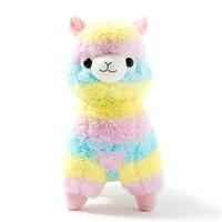 35cm Rainbow Alpaca Plush Toy Japanese Soft Plush Alpacasso Baby 100 Plush Stuffed Animals Alpaca Gifts