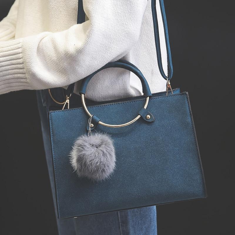 Fashion new scrub circusy shoulder bag simple girl s handbag nubuck leather casual messenger bag