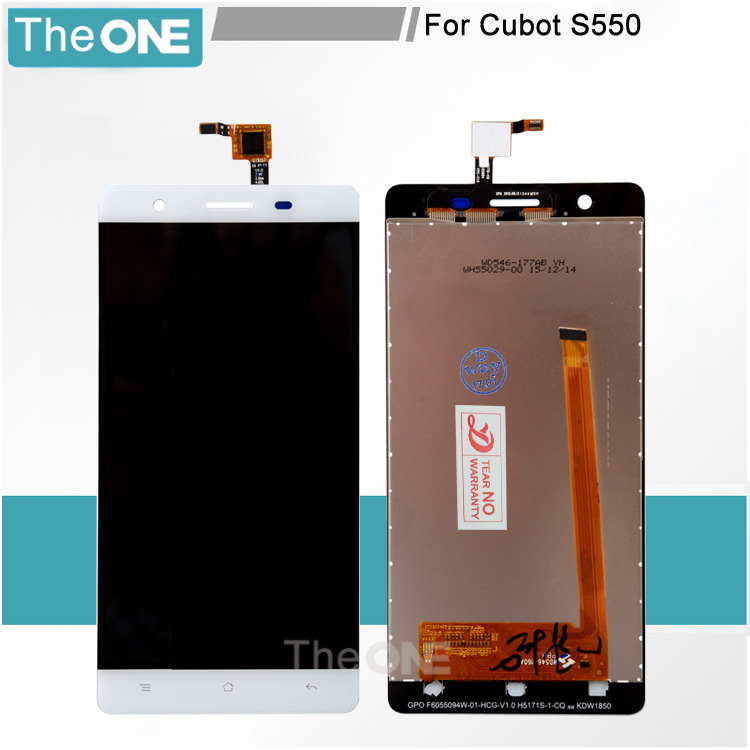 5 pcs/lot For CUBOT S550 LCD Display+Touch Screen Assembly LCD Digitizer Glass Panel Replacement For CUBOT S550 Phone