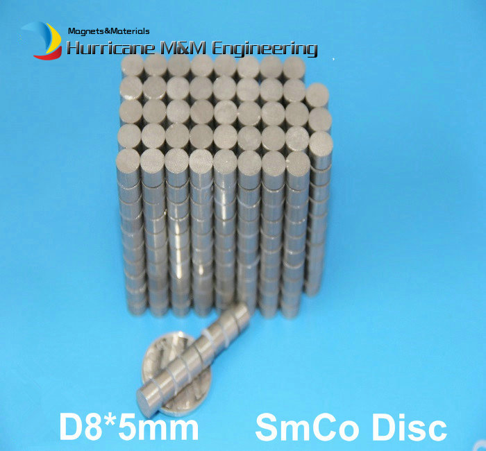 1 pack SmCo Magnet Disc Diameter 8x5 mm Cylinder Grade YXG24H 350 Degree C Operating Temp. Permanent Magnets Rare Earth Magnets 41 1mm 350 cylinder