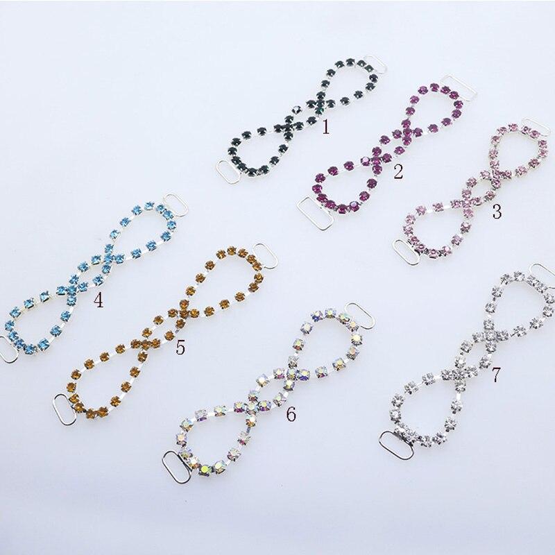 Moda 85mm 7 pçs/set strass cadena conectores cristal natación desgaste biquíni decoração cadena artesanías costura acessórios