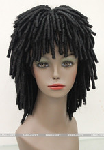 Peluca Products perruque  Black Africans style wig DREADLOCKS Fancy Dress RUUD GULLIT FTLG009      Ladies  Synthetic hair Wigs