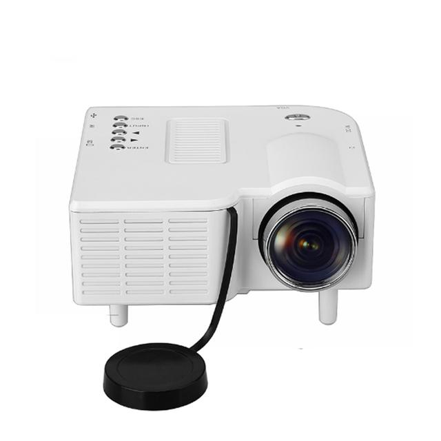 UC28 Mini Projetores Com LED Digital Vídeo Gam Multimedia player Entradas VGA/USB/SD/AV/HDMI entrada Branco Mini Projetor de Bolso