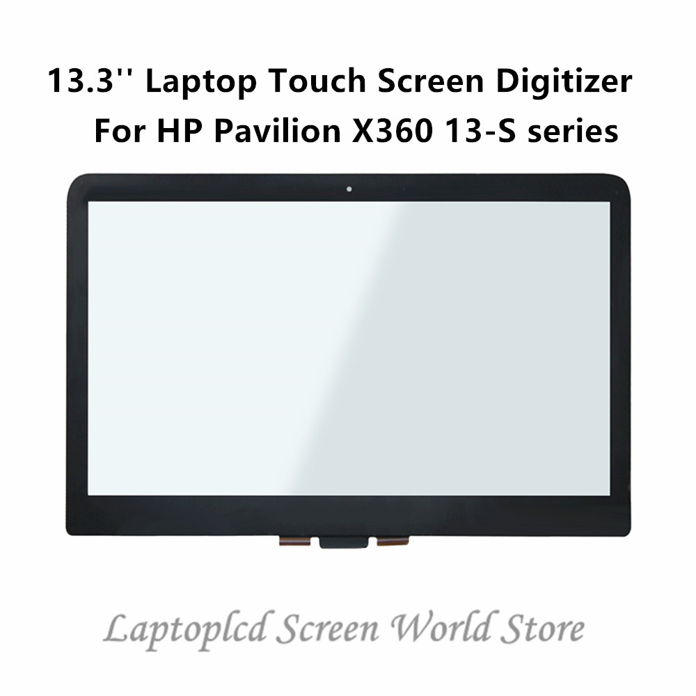 FTDLCD 13.3'' Replacemente Laptop Glass Touch Screen Digitizer+Bezel For HP Pavilion X360 13 S series